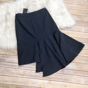 J.O.A Los Angelos Blue Asymmetrical Skirt Size M